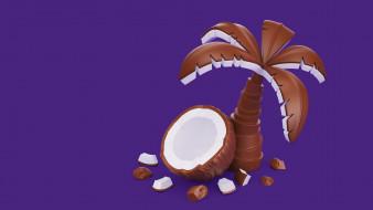 пальма, шоколад, кокос, еда, AJ Jefferies, Cadbury Dairy Milk Icons, вкусняшки