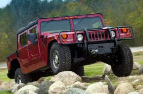 2005, красный, Hummer, H1, Alpha