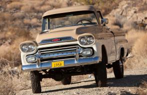 chevrolet apache 31 deluxe fleetside by napco 1959, автомобили, chevrolet, fleetside, apache, 31, deluxe, by, 1959, napco