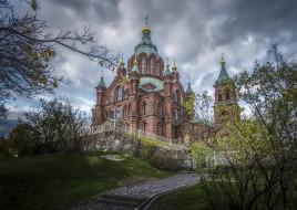 uspenski cathedral,  the eastern orthodox cathedral,  in helsinki,  finland, города, хельсинки , финляндия, храм