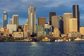 seattle, города, сиэтл , сша, небоскребы, панорама