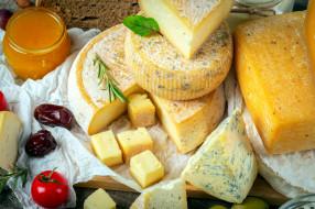 еда, сырные изделия, мед, финики, сыр
