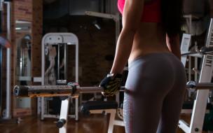 спорт, девушка, фитнес