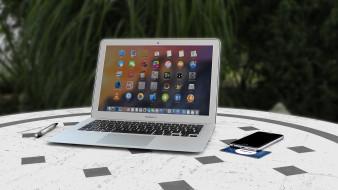 MacBook Air, hi-tech, смартфон, iPhone