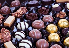 конфеты, шоколадные, лакомство, ассорти