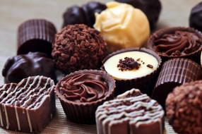 конфеты, лакомство, ассорти, шоколадные