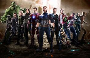 Movies, Avengers Infinity War, локи, халк, черная пантера, железный человек, фантастика, тор, гамора, Мстители Война бесконечности, 2018, fan art, фэнтези