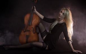 музыка, -другое, виолончель, девушка