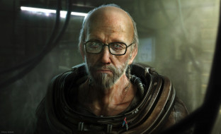 очки, скафандр, старик