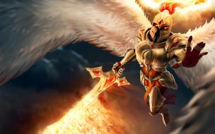 фон, крылья, ангел, меч