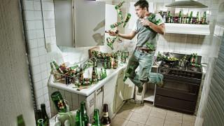 юмор и приколы, кухня, мужчина, бутылки