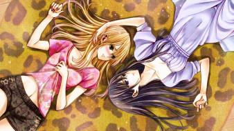 citrus, аниме, unknown,  другое , фон, взгляд, девушки