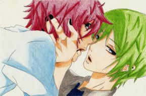 поцелуй, лица