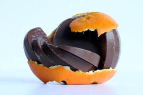 шоколад, кожура, апельсин