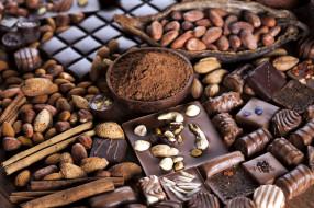 шоколад, лакомство, ассорти, конфеты