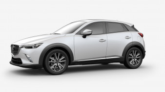 Subcompact, Review, Crossover, Mazda, CX-3, белый, 2018