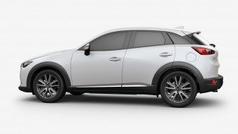 Subcompact, 2018, Crossover, белый, Mazda, Review, CX-3