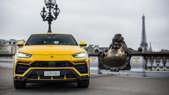 2019, жёлтый, Lamborghini, Urus