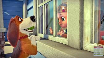 окно, взгляд, 2018, собака, девочка