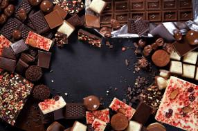шоколад, ассорти, конфеты, орехи