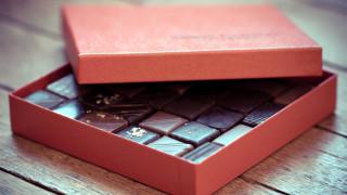 коробка, конфеты, шоколад