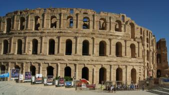 небо, реклама, посетители, Колизей