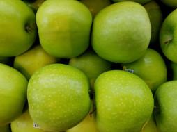 зеленые, яблоки
