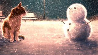 снеговик, кот