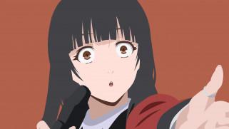аниме, kakegurui, девушка, фон, взгляд