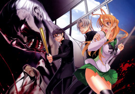 аниме, highschool of the dead, highschool, of, the, dead