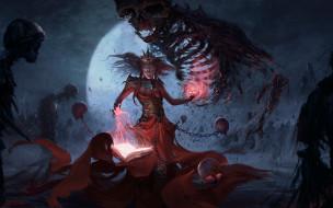 Колдунья, демоны, нежить, ритуал, колдовство, магия, заклинание