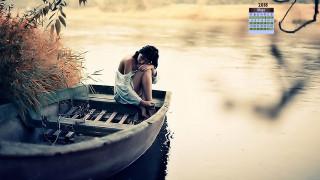 водоем, 2018, лодка