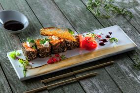 кухня, роллы, японская