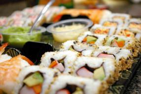 кухня, роллы, ассорти, японская