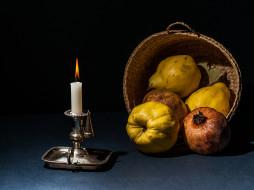 свеча, плоды