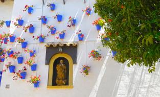 барселона, города, - другое, дерево, цветы, скульптура