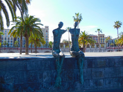 барселона, города, - памятники,  скульптуры,  арт-объекты, пальма