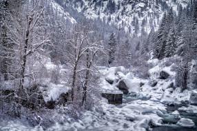 обои для рабочего стола 2048x1365 природа, зима, простор