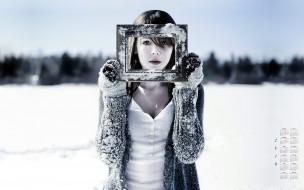 рамка, 2018, лицо, взгляд, снег