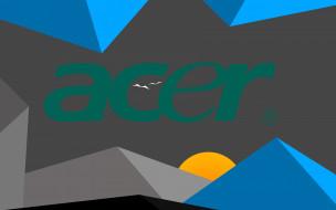 компьютеры, acer, фон, логотип