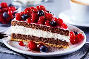 торт, ягодный, смородина