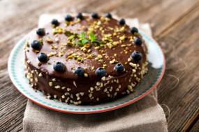 глазурь, торт, черника