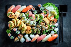 роллы, японская, кухня, ассорти