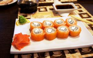 японская, кухня, роллы, имбирь