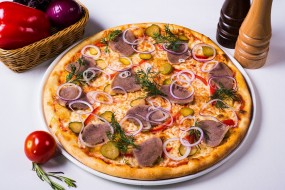 пицца, укроп, лук, язык