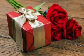 подарок, розы
