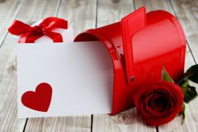 сердечко, подарок, роза