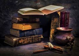 книги, корица, старинные