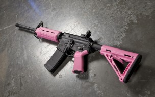 pink, ar15, assault rifle