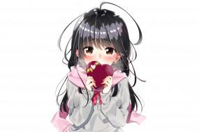 аниме, день святого валентина, фон, взгляд, девушка
